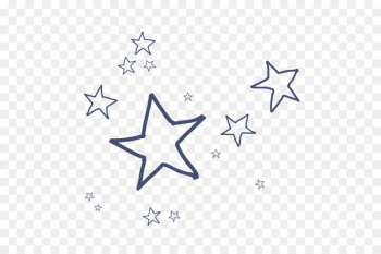 Cartoon - Vector cartoon hand-drawn line stars  png image transparent background