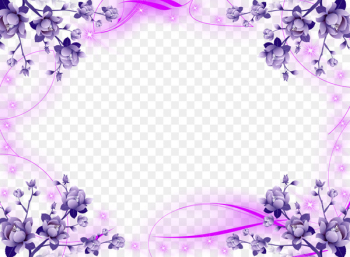 Borders and Frames Wedding invitation Picture Frames Flower Clip art - lavender  png image transparent background
