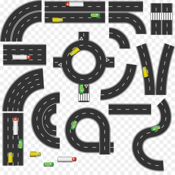 Road Euclidean vector Infographic - 3.14 road design vector material  png image transparent background
