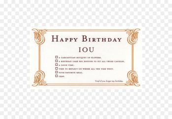 Wedding invitation Greeting & Note Cards Birthday Gift IOU - voucher coupons  png image transparent background