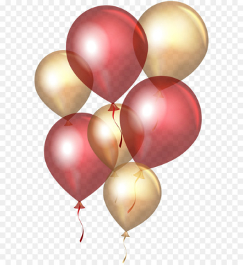 Balloon Gold Clip art - Transparent Red Gold Balloons PNG Clip Art  png image transparent background