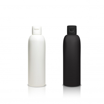 Cosmetic plastic bottles illustration of 3d realistic containers for shower gel, shampoo