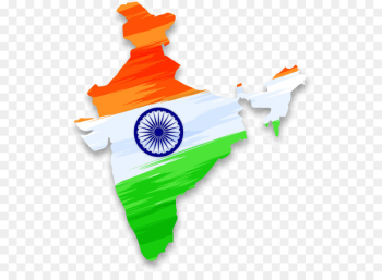 Flag of India Indian independence movement Indian Independence Day - Vector Map of India with Indian Falun  png image transparent background