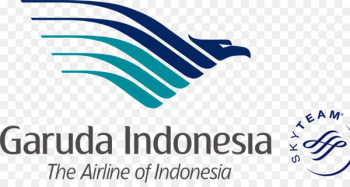 Garuda Indonesia Logo SkyTeam Airplane Brand - airplane  png image transparent background