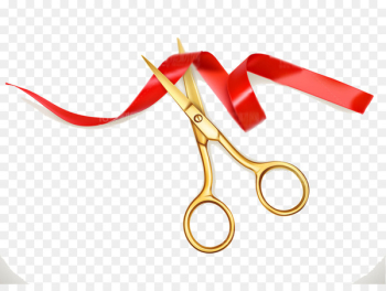 Scissors Ribbon Opening ceremony Cutting - Scissors cut the ribbon festivals  png image transparent background