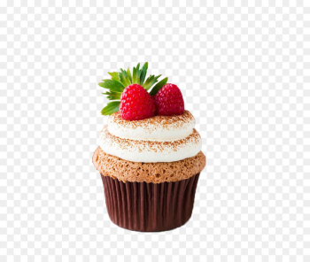 Cupcake Angel food cake Icing Cream Milk - Strawberry Cake  png image transparent background