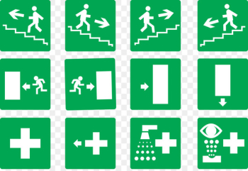 Emergency exit Exit sign Stairs - Vector Dead  png image transparent background