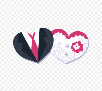 Wedding invitation Template - Heart-shaped,Bride and groom,Vector,Decorative background  png image transparent background