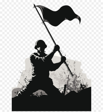 Soldier Army Euclidean vector - Army PPT soldier black and white Silhouette Illustration  png image transparent background