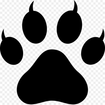 Polydactyl cat Paw Footprint Clip art - Lion Paw Print  png image transparent background