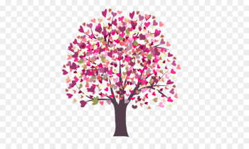 Valentines Day Heart Gift - Colorful Trees  png image transparent background