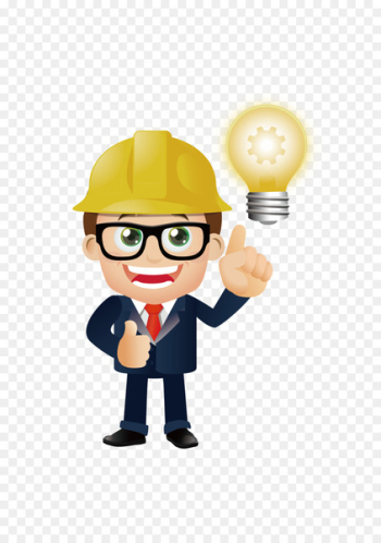 Cartoon Architecture Drawing - engineer  png image transparent background