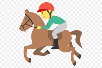 Horse racing Emoji Equestrian Jockey - horse riding  png image transparent background
