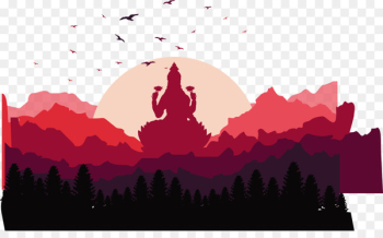 Lakshmi Illustration - Mountain cloud clouds vector  png image transparent background