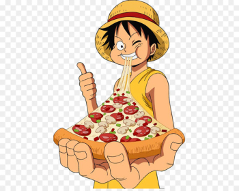 Monkey D. Luffy Roronoa Zoro Pizza Portgas D. Ace T-shirt - one piece  png image transparent background