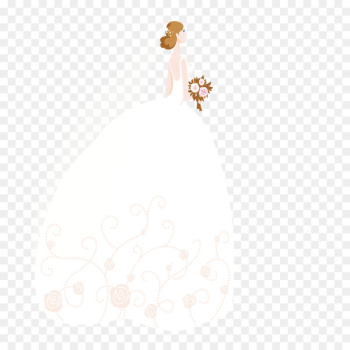 Bride White Contemporary Western wedding dress - Beautiful bride  png image transparent background