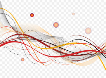 Curve Line - Ribbons floating bubbles  png image transparent background