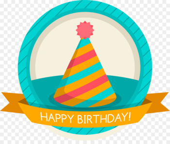 Party hat Birthday Symbol Clip art - Blue birthday cap tag  png image transparent background