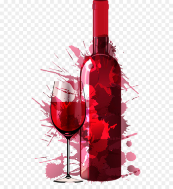 Wine Party Painting Drink Dinner - Vector creative red wine  png image transparent background