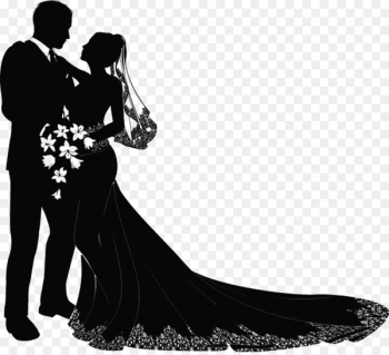 Wedding invitation Bridegroom Clip art - Marriage silhouette  png image transparent background