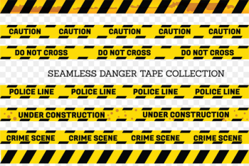 Adhesive tape Yellow Barricade tape - Yellow and black border warning line  png image transparent background