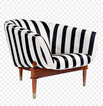 Couch Furniture Club chair Bar stool - Black and white striped sofa  png image transparent background
