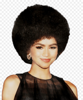 Zendaya Hairstyle Afro-textured hair Wig -   png image transparent background