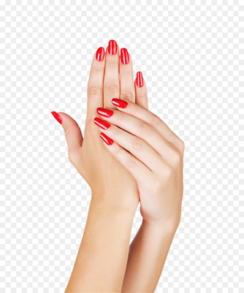Light Nail polish Manicure Gel nails - Hands painted red nail polish  png image transparent background