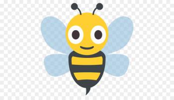 Honey bee Emoji Emoticon Sticker - honey and bee design vector material free download  png image transparent background