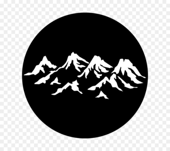 Gobo Mountain range Light Design - stagecraft graphic  png image transparent background