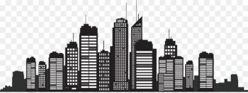 New York City Silhouette Skyline Cityscape - Building Silhouette  png image transparent background