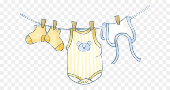 Infant clothing Clip art - Hanging baby clothes  png image transparent background