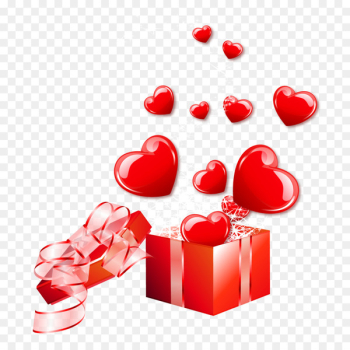 Vecteur - Fly out of the gift box of love vector material  png image transparent background