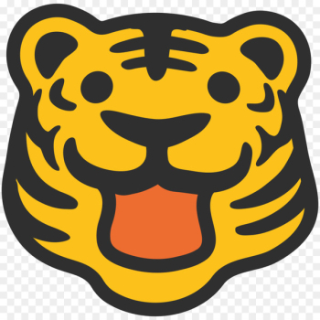 Talking Tiger Emoji Roar Text messaging - TIGER VECTOR  png image transparent background
