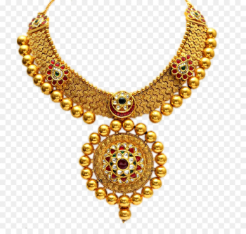 Jewellery Gold Necklace Pendant - Gold necklace queen  png image transparent background