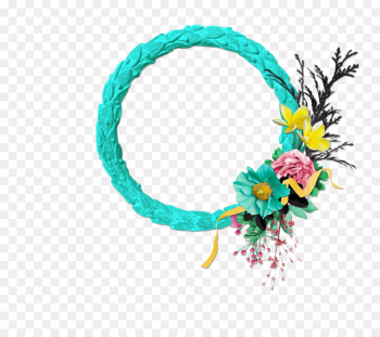 Picture Frames, Borders And Frames, Decorative Arts, Turquoise, Wreath PNG png image transparent background