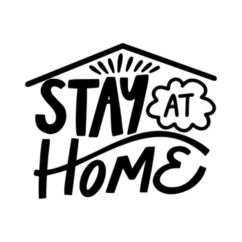 I stay at home lettering Free Vector