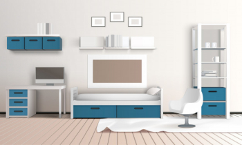 Keeping room apartment composition Free Vector