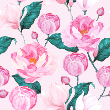 Watercolor roses seamless pattern Free Vector