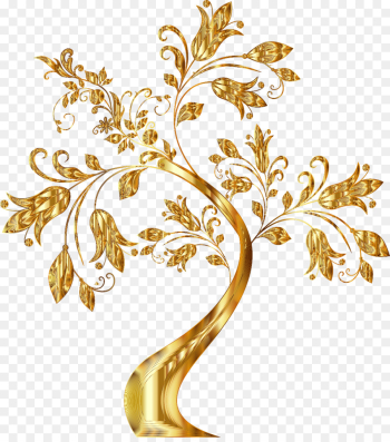 Tree, Borders And Frames, Gold, Branch, Botany PNG png image transparent background