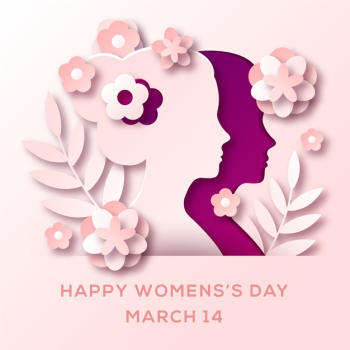 Womens day in paper style design Free Vector