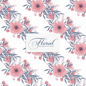 Floral   pink flowers seamless Free Vector png image transparent background