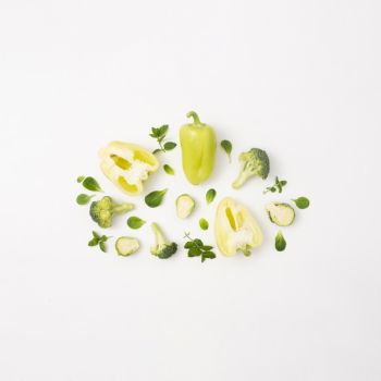 Delicious vegetables on simple white background Free Photo