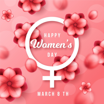 Realistic womens day event concept Free Vector