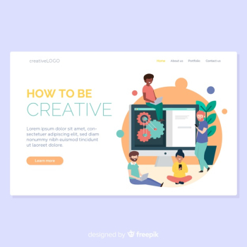 Hand Drawn Creative Process Landing Page | Download now free vectors