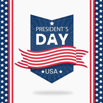 Flat design presidents day celebration concept Free Vector
