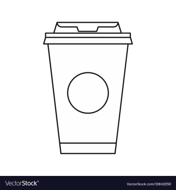 Take away coffee cup icon outline style Royalty Free Vector png image transparent background