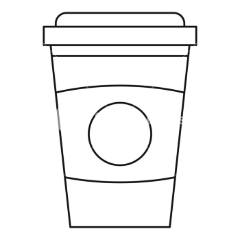 Take out coffee cup icon. Outline illustration of take out coffee ... png image transparent background