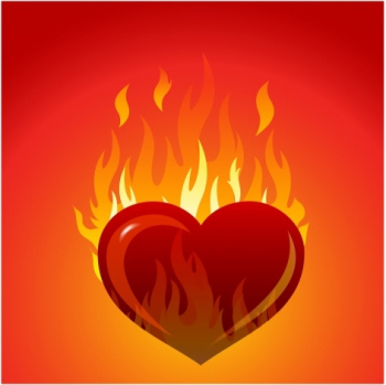 Heart with flames Free vector in Adobe Illustrator ai ( .AI ... png image transparent background