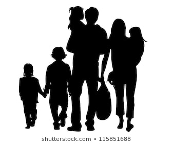 Family Silhouette Images, Stock Photos & Vectors | Shutterstock png image transparent background